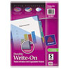 Avery Multicolor Write-On Dividers, Exp. Pocket, 5-Tab, 11 x 8-1/2, 1 Set
