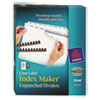 Avery Index Maker Clear Label Unpunched Divider, 8-Tab, Letter, White, 25 Sets