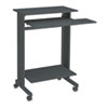 Euroflex Stand-Up Workstation, 29-1/2w x 19-5/8d x 44-1/4h, Charcoal Melamine