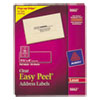 Avery Easy Peel Laser Mailing Labels, 1-1/3 x 4, Clear, 700/Box