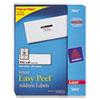 Avery Easy Peel Laser Address Labels, 1-1/3 x 4, White, 3500/Box