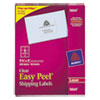 Avery Clear Easy Peel Mailing Labels, Laser, 3 1/3 x 4, 300/Box