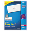 Avery Easy Peel Laser Address Labels, 1 x 2-5/8, White, 7500/Box