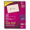 Avery Clear Easy Peel Mailing Labels, Laser, 1 x 4, 1000/Box
