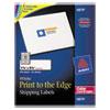 Shipping Labels for Color Laser & Copier, 1-1/4 x 3-3/4, Matte White, 300/Pack
