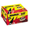 Marks-A-Lot Regular Desk Style Permanent Marker, Chisel Tip, Black, 24/Pack