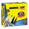 Marks-A-Lot Desk Style/Pen Style Dry Erase Markers, Chisel Tip, Assorted, 24/Pack