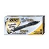 BIC Pro+ Ballpoint Retractable Pen, Black Ink, 1mm, Medium, Dozen