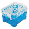 Advantus Super Stacker Pixie Box, Blue, 4/Pk
