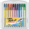 Mark-It Permanent Markers, Fine Point, Assorted Colors, 36/Set