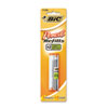 BIC Lead/Eraser Refills, 0.7mm, HB, BK, 17/Pack