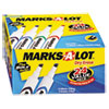 Marks-A-Lot Desk Style Dry Erase Markers, Chisel Tip, Assorted, 24/Pack