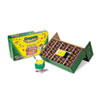 Classpack Regular Crayons, Assorted, 13 Caddies, 832/Box