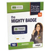 The Mighty Badge Name Badge Starter Kit, Laser Inserts, 1 x 3, Gold, 10 per Kit