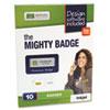 The Mighty Badge Name Badge Starter Kit, Laser Inserts, 1 x 3, Gold, 10 per Kit