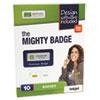 The Mighty Badge Name Badge Starter Kit, Inkjet Inserts, 1 x 3, Gold, 10 per Kit