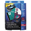 Avery CD/DVD Design Kit, Matte White, 30 Laser Labels and 8 Inserts