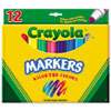 Non-Washable Markers, Broad Point, Classic Colors, 12/Set