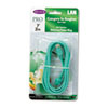 CAT5e Snagless Patch Cable, RJ45 Connectors, 7 ft., Green