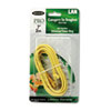 CAT5e Snagless Patch Cable, RJ45 Connectors, 7 ft., Yellow