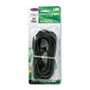 CAT5e Snagless Patch Cable, RJ45 Connectors, 25 ft., Black