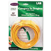 CAT5e Snagless Patch Cable, RJ45 Connectors, 50 ft., Yellow