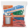 Alliance SuperSize Rubber Bands, 12: Red, 14