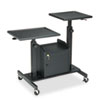 Pro-View Projection Stand w/2 Platforms, 3-Shelf, 33w x 24d x 44-1/2h, Black