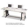 Split-Level Computer Training Table Base, 72w x 36d x 33h, Gray (Box Two)