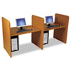 Add-On H Carrel, Laminate, 43w x 27-3/4d x 42h, Natural Cherry