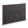 Recycled Rubber-Tak Tackboard, 48 x 36, Black w/Aluminum Frame