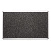 Recycled Rubber-Tak Tackboard, 72 x 48, Black w/Aluminum Frame