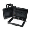 "Leather Multi-Ring Zippered Portfolio, 1-1/2"" Capacity, 14-1/4 x 10-1/2, Black"
