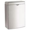 Bobrick Contura Sanitary Napkin Receptacle, Rectangular, Stainless Steel, 1gal