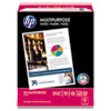 HP Multipurpose Paper, 96 Bright, 20 lb, Letter, White, 2500 Sheets/Carton