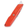 Stanley Interlock Safety Utility Knife w/Self-Retracting Round Point Blade, Red Orange