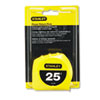 Power Return Tape Measure, 3-Way Reading Blade, 1&quot;W x 25ft, Yellow