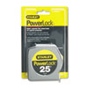 Powerlock II Power Return Rule, 1&quot; x 25 ft., Chrome/Yellow