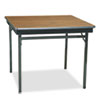Special Size Folding Table, Square, 36w x 36d x 30h, Walnut