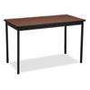 Utility Table, Rectangular, 48w x 24d x 30h, Walnut