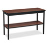 Utility Table with Bottom Shelf, Rectangular, 48w x 18d x 30h, Walnut
