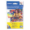 Brother Innobella Premium Glossy Photo Paper, 51 lbs., 4 x 6, 20/Pack