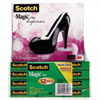 Scotch Magic Tape Value Pack with Black Shoe Dispenser, 3/4