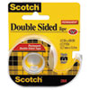 Scotch 665 Double-Sided Office Tape w/Hand Dispenser, 1/2