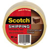"""Scotch 3750 Commercial Grade Packaging Tape, 1.88"""" x 54.6yds, 3"""" Core, Clear"""