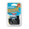 Brother P-Touch M Series Tape Cartridge for P-Touch Labelers, 1/2w, Black on Blue