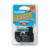 Brother P-Touch M Series Tape Cartridge for P-Touch Labelers, 1/2w, Black on Green