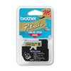 Brother P-Touch M Series Tape Cartridge for P-Touch Labelers, 3/8w, Black on Gold