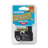 Brother P-Touch M Series Tape Cartridge for P-Touch Labelers, 1/2w, Black on Gold
