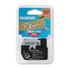 Brother P-Touch M Series Tape Cartridge for P-Touch Labelers, 1/2w, Black on Silver